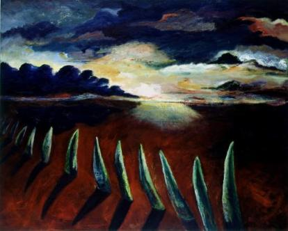 Field of grass, Landscape painting with words, Large landscape painting, landscape painting in oil, oil on canvas landscape