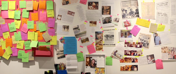 Venice Tribute Wall as part of exhibition