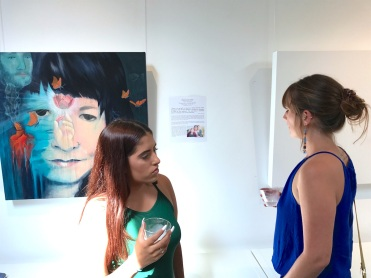 Elaines daughters at West of Lincoln Project opening copy