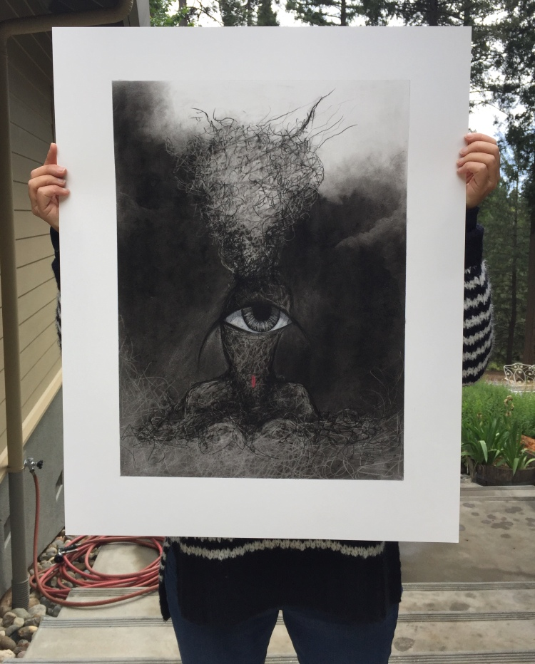 charcoal drawing on paper by ruth chase 2015 22 by 28 inches