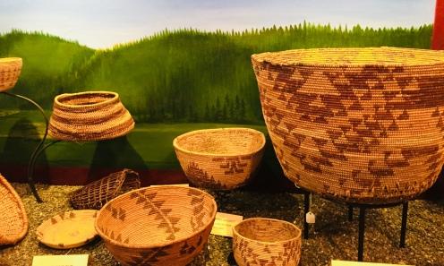 Nisenan Baskets at Firehouse Museum Photo by Lori Lachman