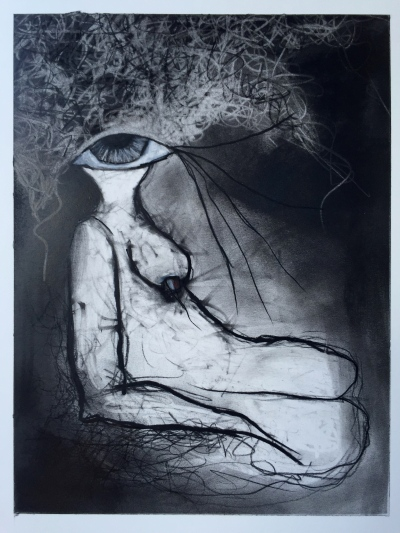 Charcoal Drawing by Ruth Chase