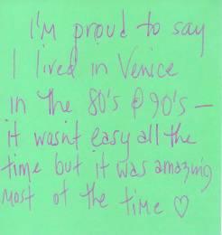 I am proud ... Venice Tribute Wall