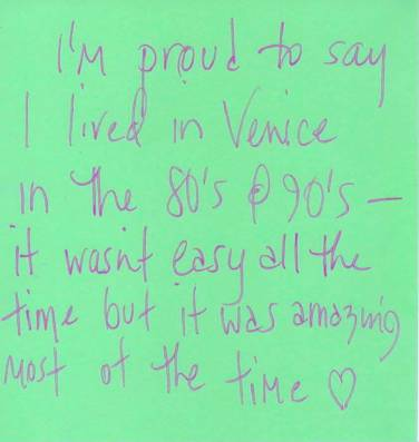 I am proud ... Venice Tribute Wall