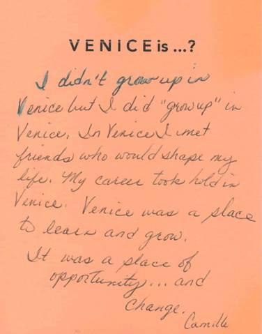 Venice is ... Venice Tribute Wall