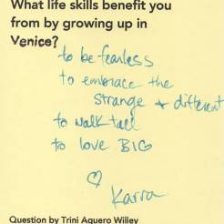 What life skills ... Venice Tribute Wall