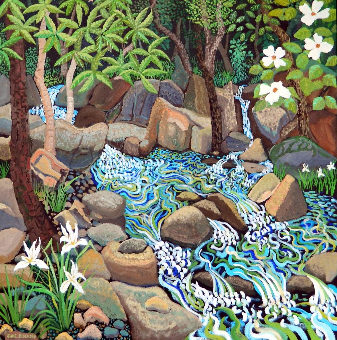 Martee's Refuge Oil on Canvas 36x36 $3600.00 Jude Bischoff Fine Art www.judebischoff.com 530-265-8781 PO Box 1202 Cedar Ridge, CA. 95924