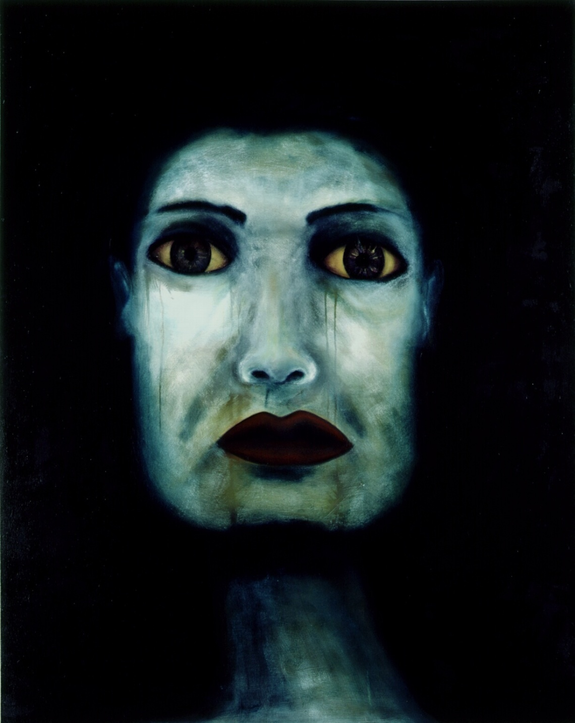 White_Face_Oil_on_Canvas_6_x4_1990 by Ruth Chase